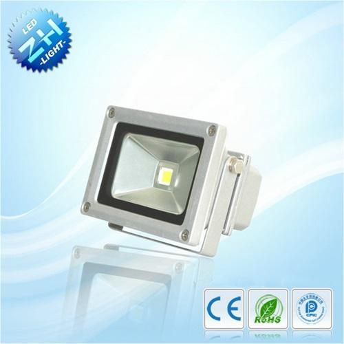 Προβολέας led 10W 230V warm white 3200K ασημί/μαύρος ZGETGD113 ZHL