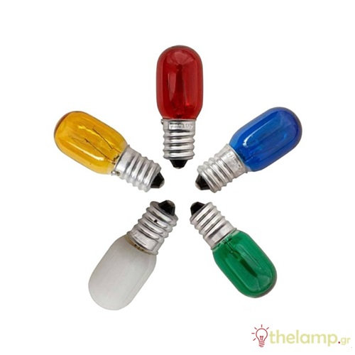 Λαμπάκι νυκτός διάφορα χρώματα 220-240V 3-5W E14