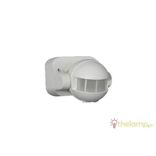 Ανιχνευτής κίνησης τοίχου λευκός 1000W 230V 180° PIR-400W IP44