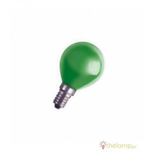 Γλομπάκι 230V 25W E14 πράσινο Radium