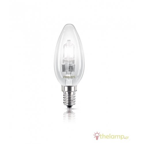 Eco 42W E14 230V κερί διάφανη dimmable Philips