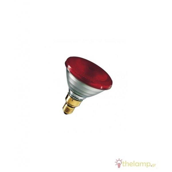Siccatherm 230V E27 175W PAR38 κόκκινη Osram