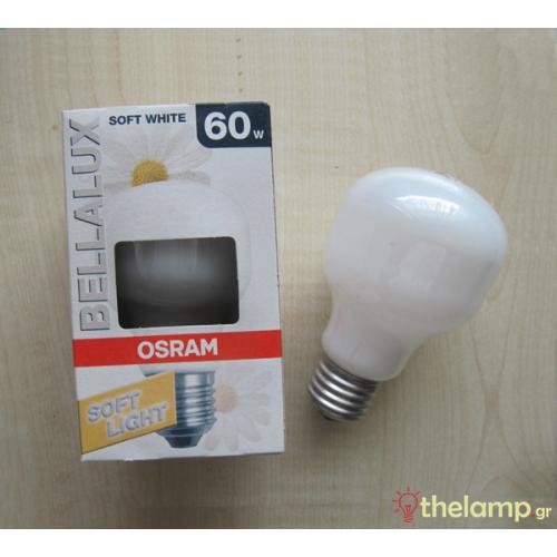 Βella soft 230V 60W E27 T60 κίτρινη Osram