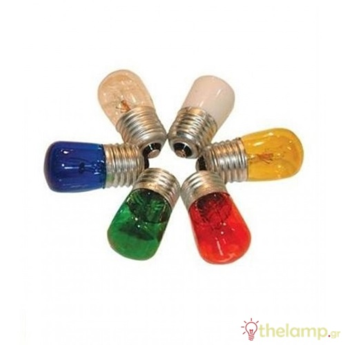 Λαμπάκι νυκτός διάφορα χρώματα 220V 7W E27