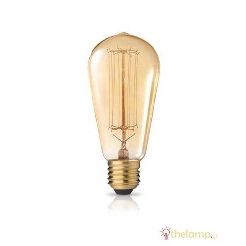 Edison 230V 40W E27 ST64 νήματος Φos_me