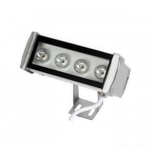 Προβολέας led 4W 230V day light 6000Κ λευκός/μαύρος wall washer