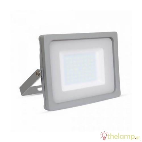 Προβολέας led 50W 240V day light 6400K γκρί SMD slim VT-4955 5836 V-TAC