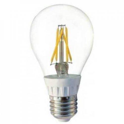 Led κοινή filament A60 4W E27 220V διάφανη day light 6500K
