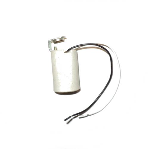Ντουί E14 πορσελάνης με λαμάκι Μ10 (1/8) LCV-1702-T
