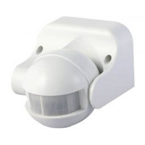 Ανιχνευτής κίνησης τοίχου λευκός 1200W 230V 180° ST09 IP44 Starlux