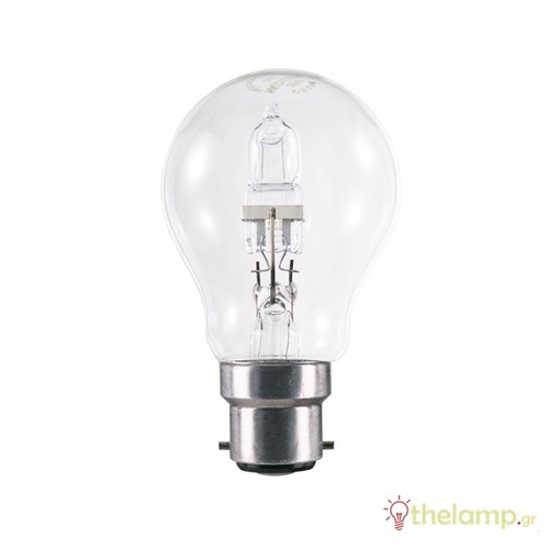 Eco B22d 53W E27 240V διάφανη dimmable Econ