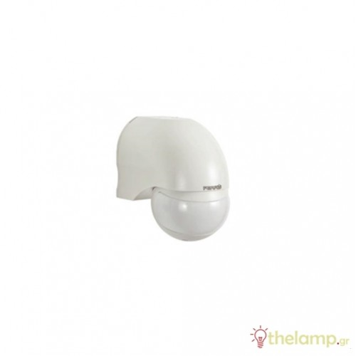 Ανιχνευτής κίνησης λευκός IP44 1000W 230V 180° SP010 PERRY