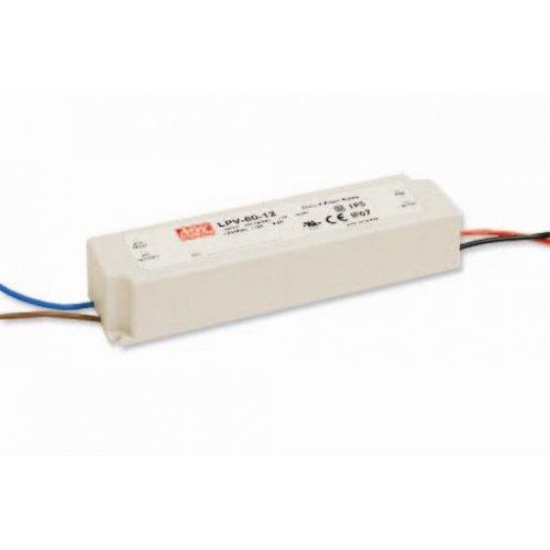 Τροφοδοτικό Led 24V 2.5A 60W LPV60-24 IP67 Mean Well
