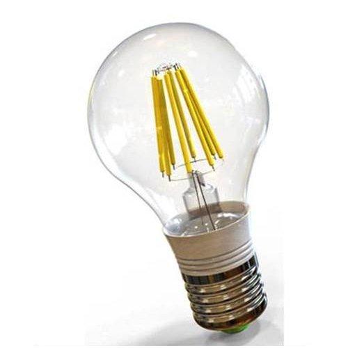 Led κοινή filament A60 8W E27 240V διάφανη warm white 3000K LedOn