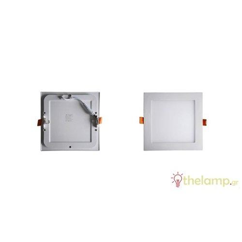 Φωτιστικό led panel χωνευτό 18W 240V 120° cool white 4500K τετράγωνο 4870 VT-1807SQ V-TAC