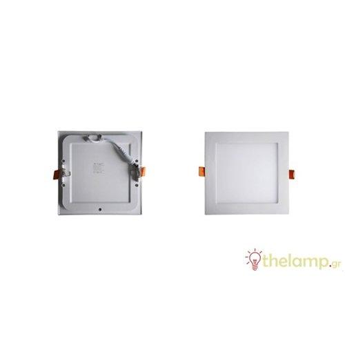 Φωτιστικό led panel χωνευτό 18W 240V 120° day light 6000K τετράγωνο 4871 VT-1807SQ V-TAC