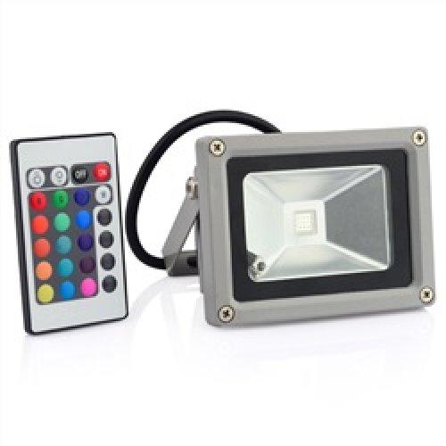 Προβολέας led 10W 230V γκρί/μαύρος RGB ZGCTGD115 ZHL