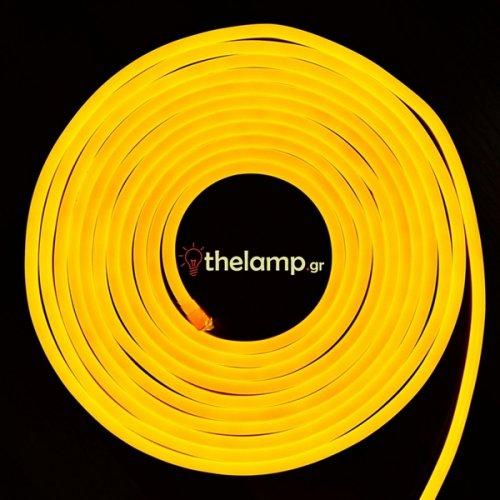 Led ταινία neon flex 24V 120led κίτρινο 2518 VT-2835 V-TAC