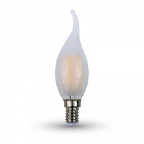 Led φλόγα κεριού filament B40 4W E14 240V frost cover warm white 2700K 4477 VT-1937 V-TAC