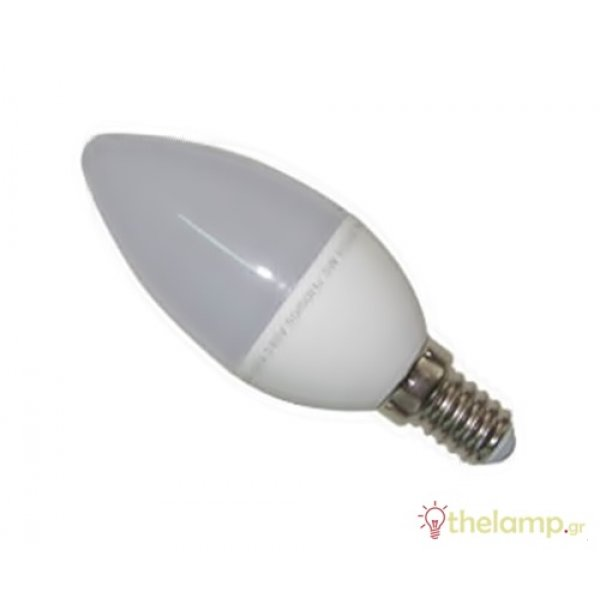 Led κερί 5W Ε14 180-265V day light 6500K LedOn