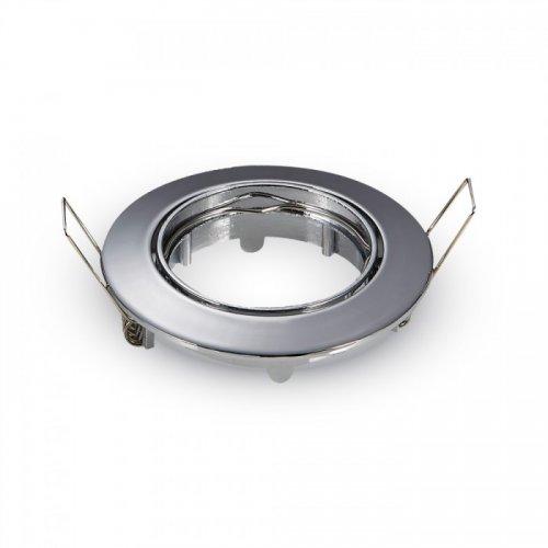 Χωνευτή βάση στρόγγυλη για spot GU10 χρώμιο 3589 VT-779 V-TAC