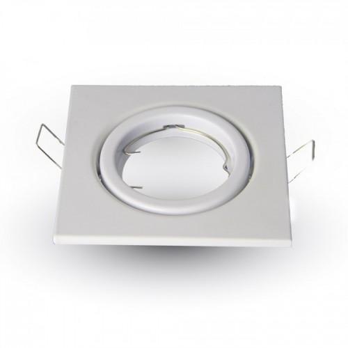 Χωνευτή βάση ρυθμιζόμενη τετράγωνη για spot GU10 λευκή 3472 VT-7227 V-TAC