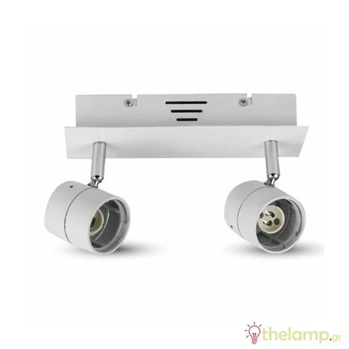 Φωτιστικό οροφής στρόγγυλο για σποτ λευκό 2xGU10 3618 VT-789 V-TAC