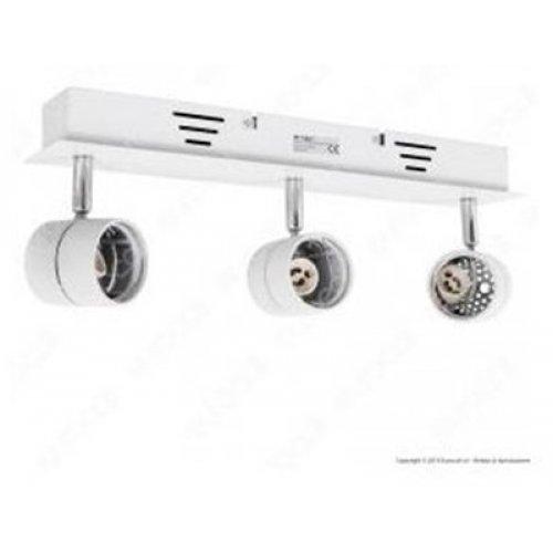 Φωτιστικό οροφής στρόγγυλο για σποτ λευκό 3xGU10 3619 VT-790 V-TAC