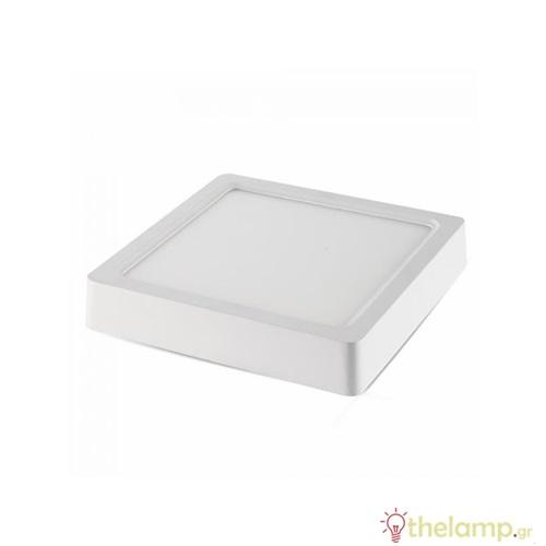 Φωτιστικό led panel επιφανειακό 12W 240V 120° warm white 3000K τετράγωνο 4913 VT-1205SQ V-TAC