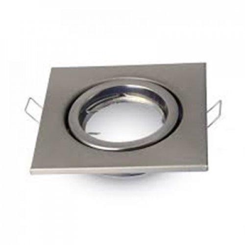 Χωνευτή βάση ρυθμιζόμενη τετράγωνη για spot GU10 satin nickel 3473 VT-7227 V-TAC