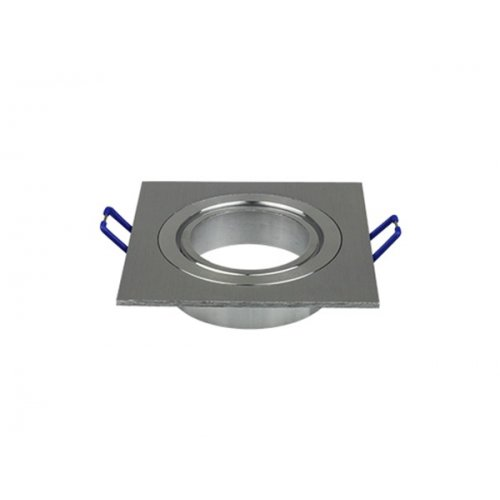 Χωνευτή βάση τετράγωνη για spot GU10 aluminium brush 3606 VT-782 V-TAC