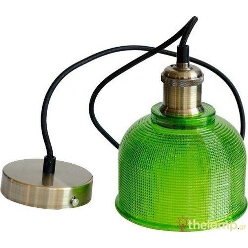 Φωτιστικό κρεμαστό γυάλινο πράσινο 3734 VT-71506 V-TAC