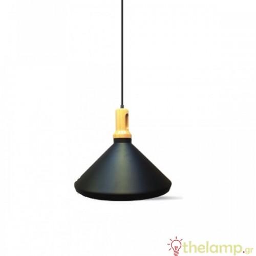 Φωτιστικό κρεμαστό μεταλλικό μαύρο 3764 VT-7535 V-TAC