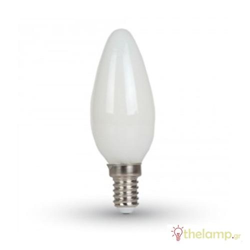 Led κερί filament B40 4W E14 240V white cover warm white 2700K 7101 VT-1924 V-TAC