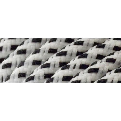 Καλώδιο υφασμάτινο στρόγγυλο άσπρο/μαύρο 2x0.75mm 0T62E063