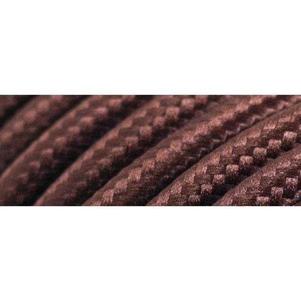 Καλώδιο υφασμάτινο στρόγγυλο καφέ 2x0.75mm 0T62E020