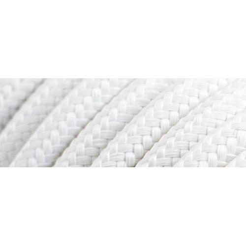 Καλώδιο υφασμάτινο στρόγγυλο λευκό 2x0.75mm 0T62E001