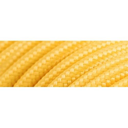 Καλώδιο υφασμάτινο στρόγγυλο κίτρινο 2x0.75mm 0T62E066