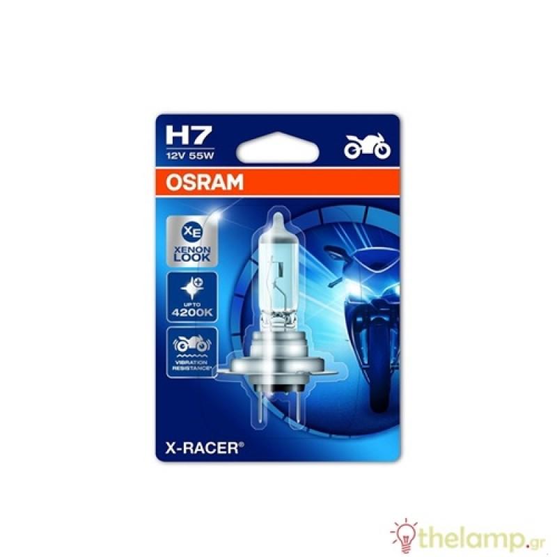 Osram 12V 55W PX26d H7 +20% cool white 4000K X-racer 64210XR