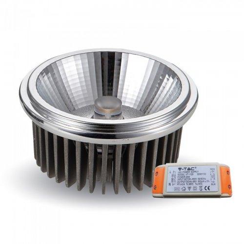 Led G53 20W AR111 230V 20° warm white 3000K 1243 VT-1120 V-TAC
