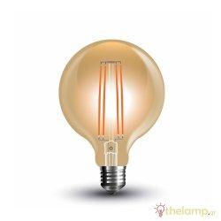 Led γλόμπο filament G95 7W E27 240V διάφανο κεχριμπάρι warm white 2200K 7147 VT-2027 V-TAC