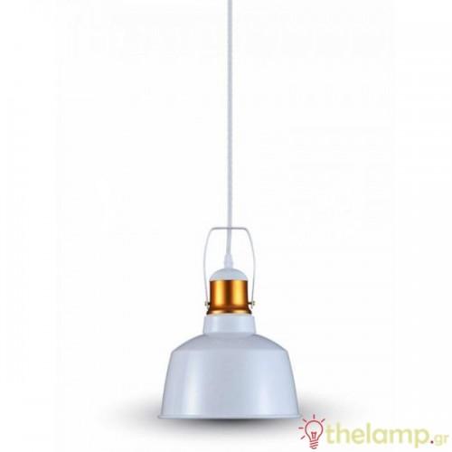 Φωτιστικό κρεμαστό μεταλλικό λευκό 3729 VT-7422 V-TAC