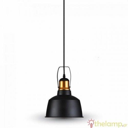 Φωτιστικό κρεμαστό μεταλλικό μαύρο 3728 VT-7422 V-TAC