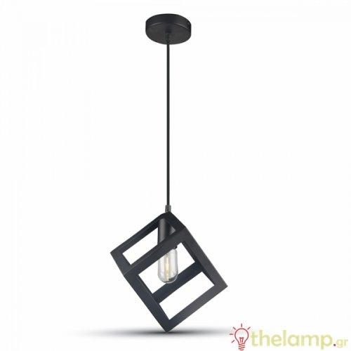 Φωτιστικό κρεμαστό γεωμετρικό μαύρο ματ 3834 VT-7161 V-TAC
