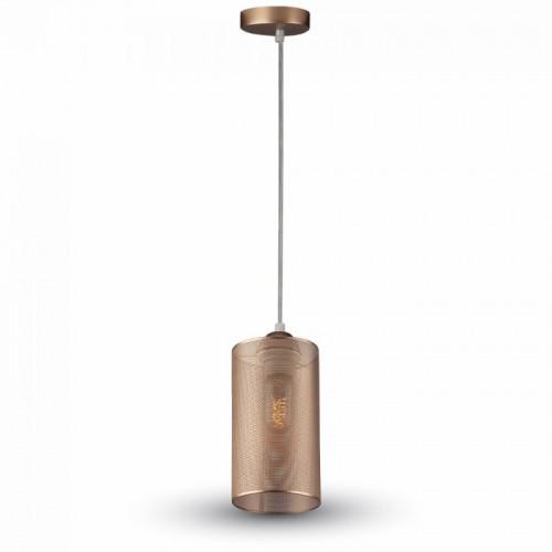 Φωτιστικό κρεμαστό μεταλλικό χρυσό 3827 VT-7132 V-TAC