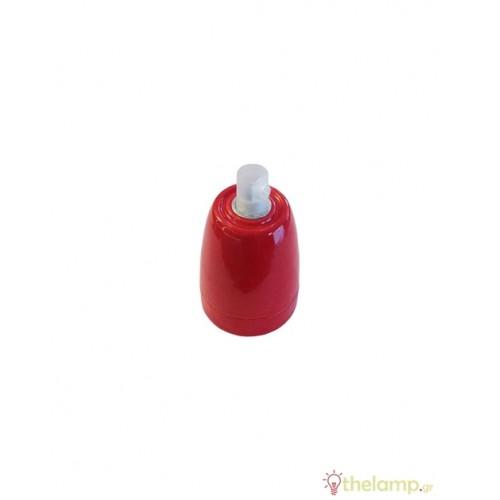 Ντουί πορσελάνης E27 κόκκινο 3799 VT-799 V-TAC