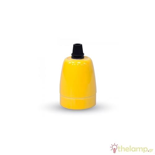 Ντουί πορσελάνης E27 κίτρινο 3801 VT-799 V-TAC