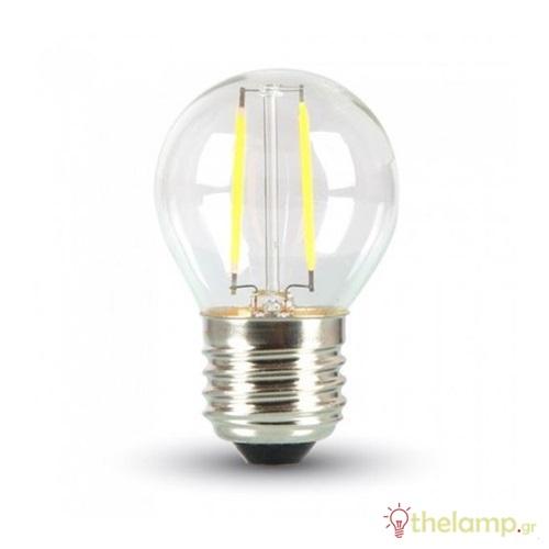 Led γλομπάκι filament G45 4W E27 240V διάφανο day light 6000K 4428 VT-1980 V-TAC