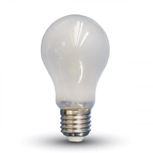Led κοινή filament A60 4W E27 220-240V frost cover warm white 2700K 4489 VT-1934 V-TAC