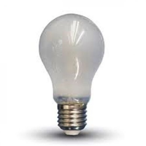 Led κοινή filament A60 4W E27 220-240V frost cover day light 6400K 4491 VT-1934 V-TAC